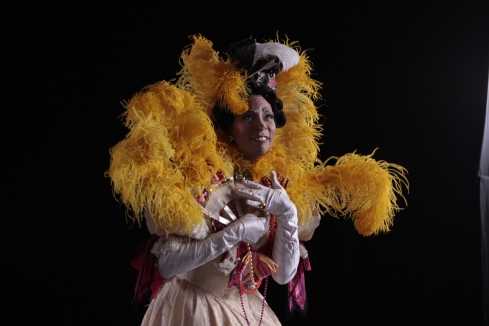 Michael Smith as an Ugly Stepsister, photo by Herbert Migdoll